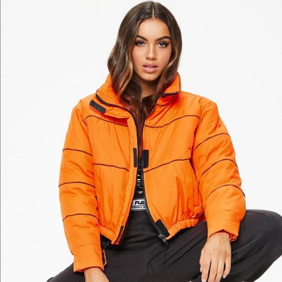11b5359da Missguided Jackets & Coats | Fanny Lyckman X Orange Tomboy Puffer ...